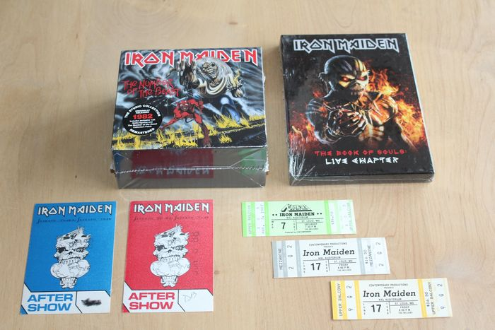 Iron Maiden - 3 Tickets + 2 Backstage Passes + 2x CD Boxset - CD, Deluxe edition, Official merchandise memorabilia item - 2000/2018