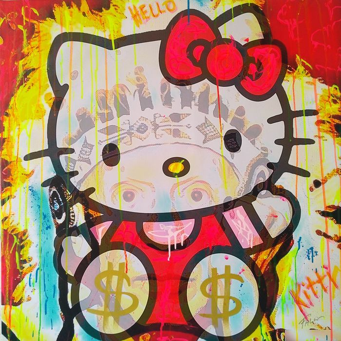 Falcó - Hello Kitti on Picasso portrait