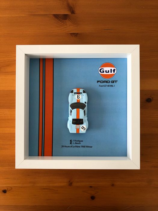 Decorative object - 3D Frame - Ford GT40 Mk.1 - Ford, Ford USA