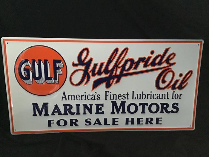 Sign - Gulfpride steel advertising sign - Gulf - 1990-2000