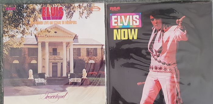 Elvis Presley & Related - Elvis Now & Elvis Recorded Live On Stage - Multiple titles - LP's - 1974/1972