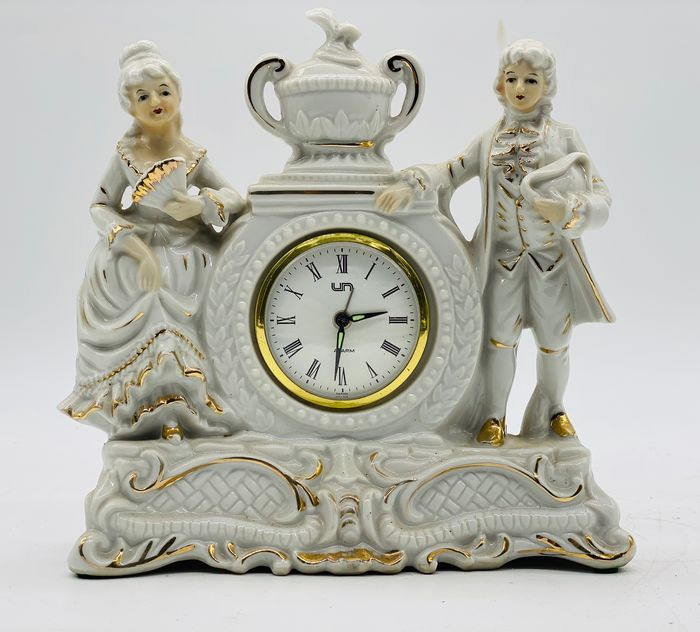 Old Geisha Alarm Clock - Art Deco - Bronze, Porcelain