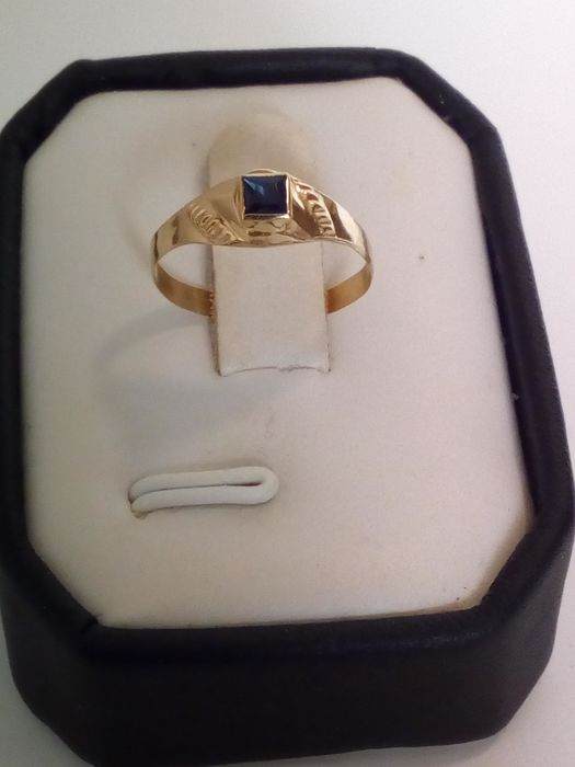 18 kt. Yellow gold - Ring - 0.20 ct Sapphire