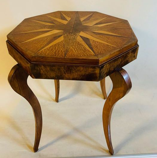 Furniture, Side table, Marquetry - Star - Wood