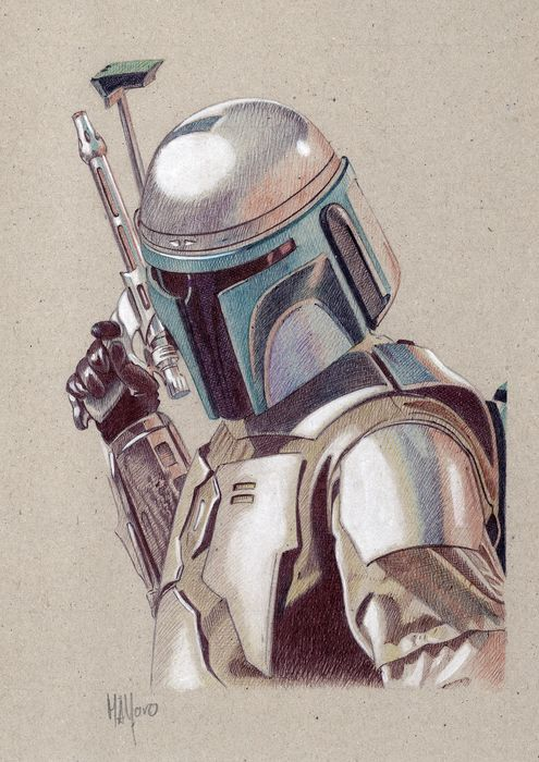 Star Wars - Jango Fett - Artwork, Original 1/1 - No Print!
