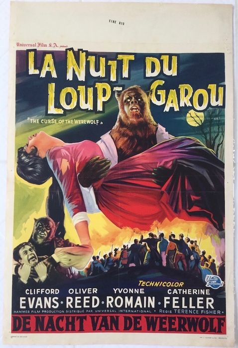 Curse of the werewolf (Hammer), 1961 - Terence Fisher / Oliver Reed - Belgian movie-poster