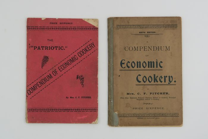 """Caroline Florence Pitcher - """"The """"Patriotic"""" A Compendium of Economic Cookery"""" and """"A Compendium of Economic Cookery"""" - 1891/1898"""
