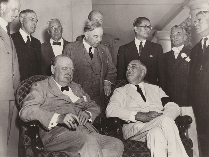 Associated Press - Churchill and Roosevelt at the Washington Conference, 1942