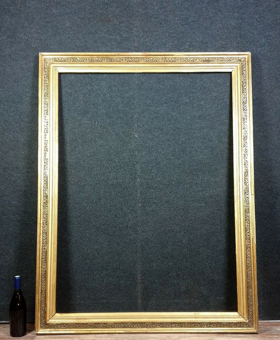Wooden Frame 19th century gilded with leaf lot G /// H140 x 107 - Wood - 19th century