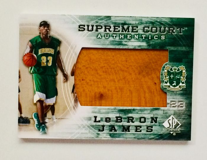 St. Vincent–St. Mary - Basketball - Lebron James - Game Jumbo Used Floor Part
