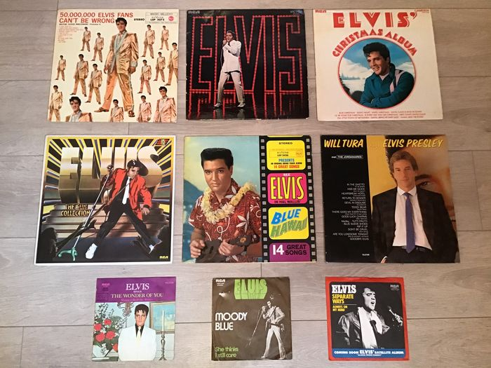 Elvis Presley - Multiple titles - 45 rpm Single, LP's - 1970/1960
