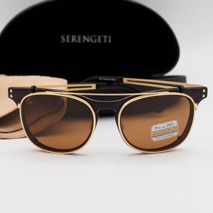 Serengeti - ENZO Shiny Dark Tortoise PHD D - Multi purpose - Photochromic - Polarized Sunglasses