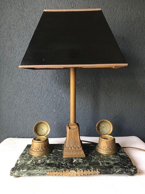 Empire Desk lamp with ink set