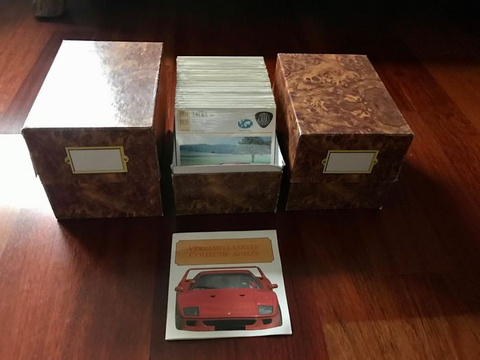 +/- 1840 Collector cards from 1991 with information about cars from all over the world - EDITO-SERVICE S.A.