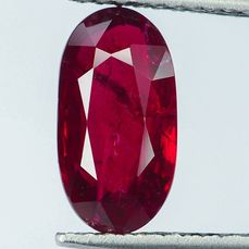 "No Reserve - ""Pigeon Blood"" Red Ruby - 2.02 ct"