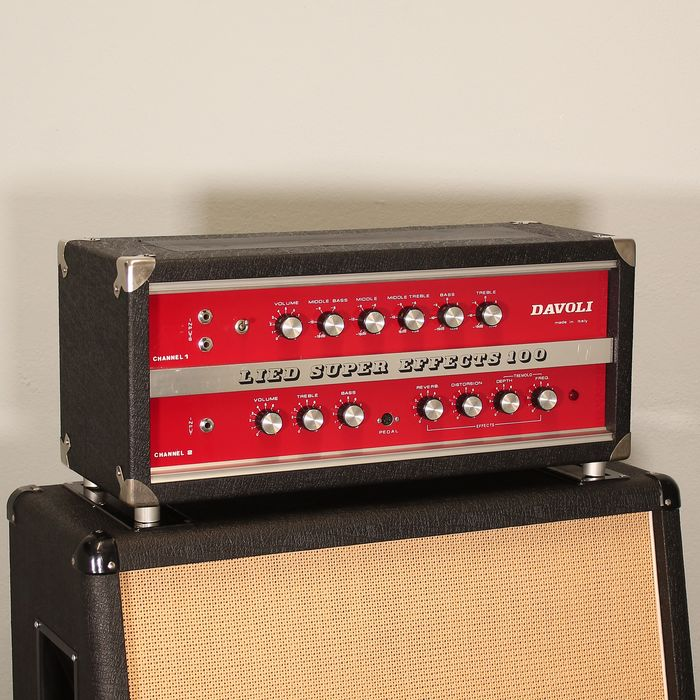 Davoli - LIED SUPER EFFECTS 100 - Guitar amplifier - Italy - 1973