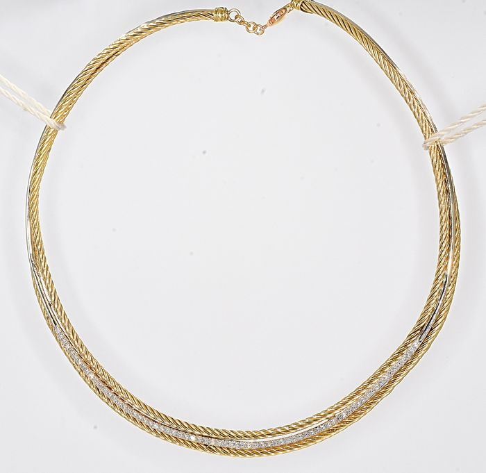 18 kt. Yellow gold - Necklace - 1.28 ct Diamond