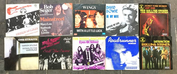 Various Artists/Bands in Rock - Multiple artists - Multiple titles - 45 rpm Single - 1974/1977