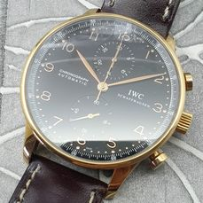 IWC - Portuguese - Chronograph - 18K Rose Gold - IW3714 - Homme - 2000-2010