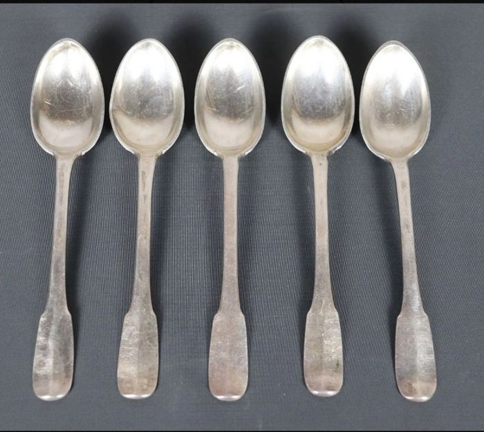 Spoon (5) - .800 silver - France - Early 19th century