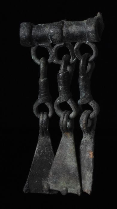 Medieval Viking Era Bronze Dragon Feet Pendant
