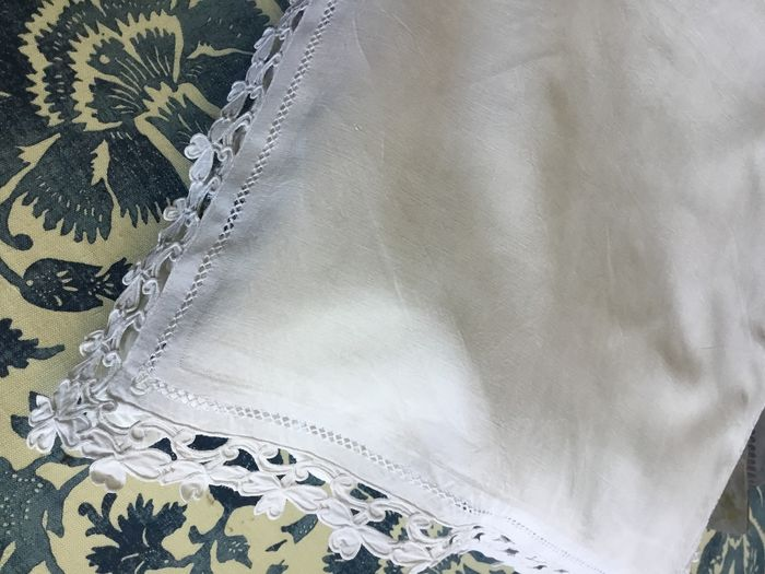 FRENCH VICTORIAN SINGLE PILLOW CASE - Linen - Late 19th century