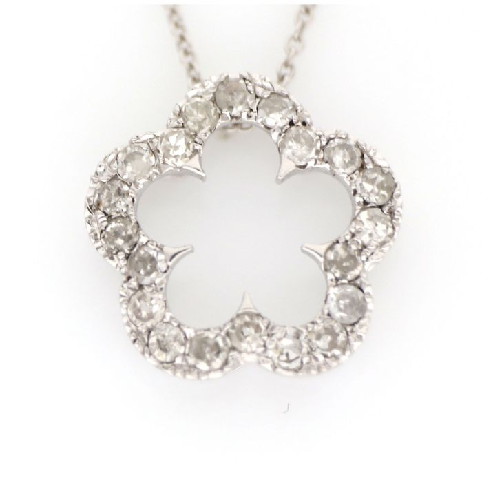 18 kt. White gold - Necklace, Necklace with pendant - 0.30 ct Diamond