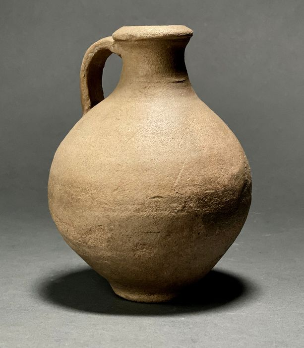 Cypriot Late Bronze Age  Terracotta Wine Flagon with Handle