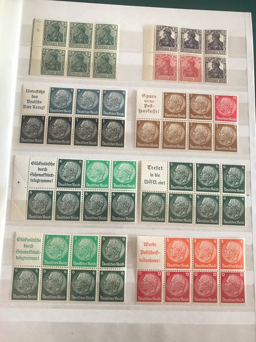 German Empire 1918/1941 - Selection of stamp pages with better - Michel ex HB2/122