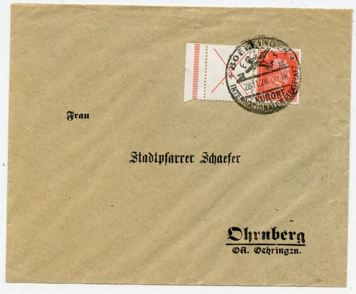 German Empire 1928 - Better se-tenant as correct individual franking - Michel W 23