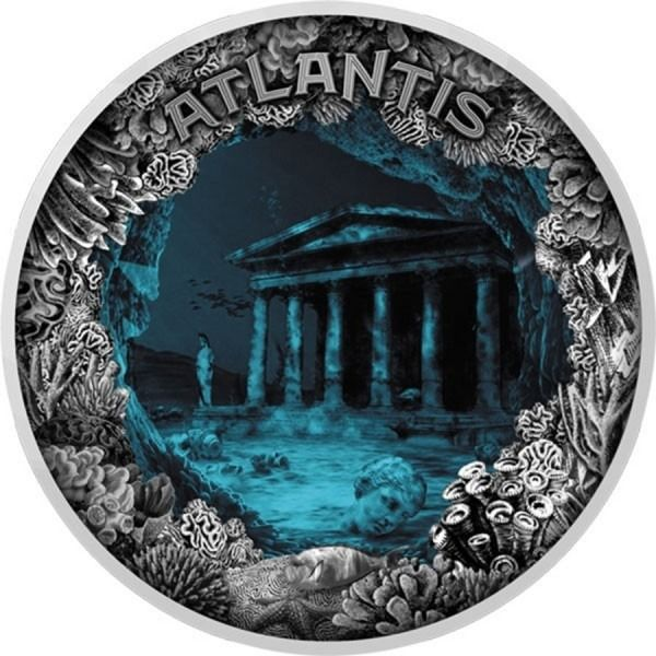 Niue - 5 Dollar 2019 Atlantis The Sunken City Antique Finish - 2 oz - Silver
