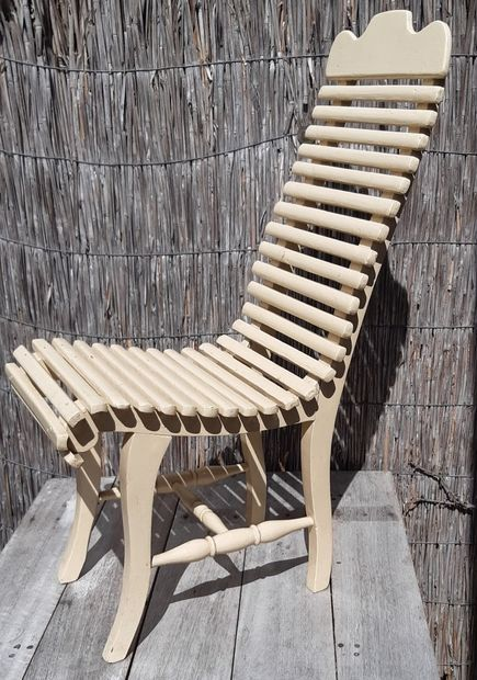 (Children's) Chair / Slatted Chair - Lattenstoel
