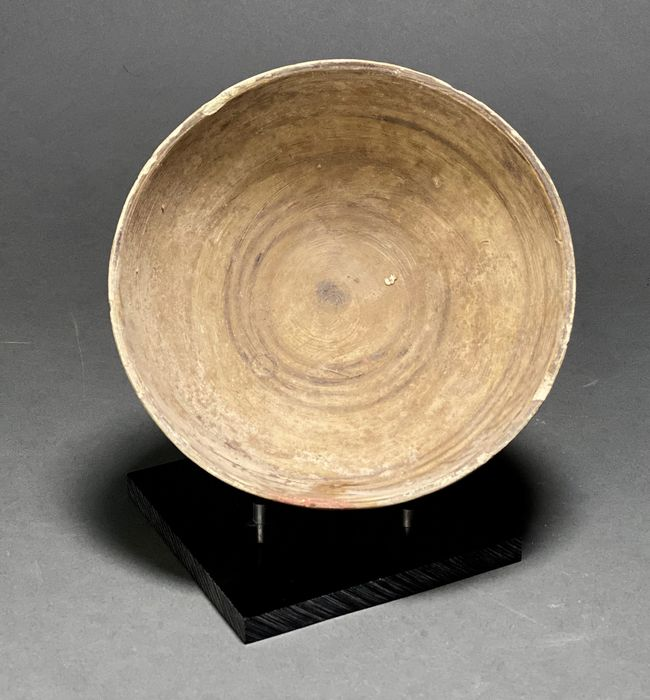 Ancient Indus Valley Terracotta Bowl with Original Paintings