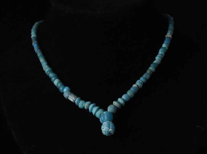 Romano-Egyptian Glass and Faience Beaded Necklace
