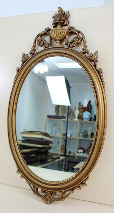 Mirror in decorative frame - Glass, Wood