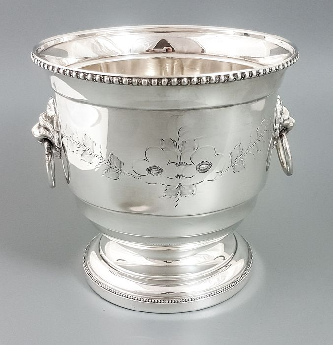 Sheffield - Ice bucket (1) - Victorian Style - Silverplate