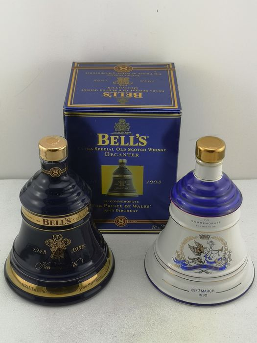 Bell's 1990 To Commemorate The Birth Of Princess Eugenie & The Prince Of Wales 50th Birthday - 75cl - 2 bottles
