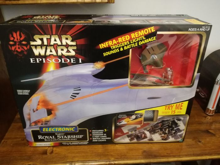 Star Wars - Episode I - The Phantom Menace - Hasbro - Naboo Royal Starship - Blockade Cruiser Play Set -84146 - Highly Collectable, rare