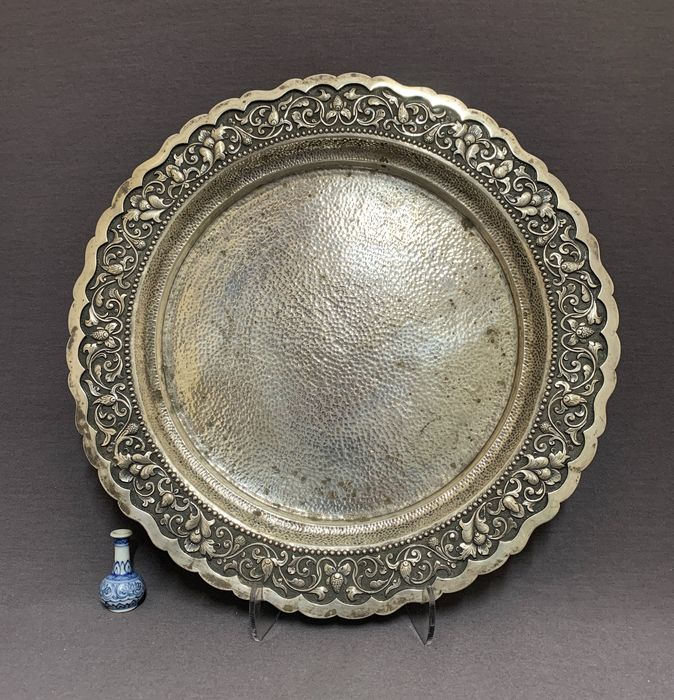 Serving tray - 494 gram - Djokja djogja silver  - Yogya, Java, Indonesia