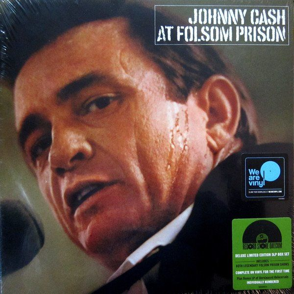 "Johnny Cash Deluxe & Numbered 5 LP Set - The Complete ""Live At Folsom Prison 1968"" Including Rare Rehearsal Recordings - Édition limitée, LP Box Set - 2018/2018"