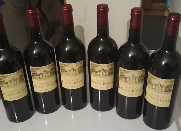 2009 Chateau Plain Point, Fronsac - Bordeaux - 6 Flessen (0.75 liter)