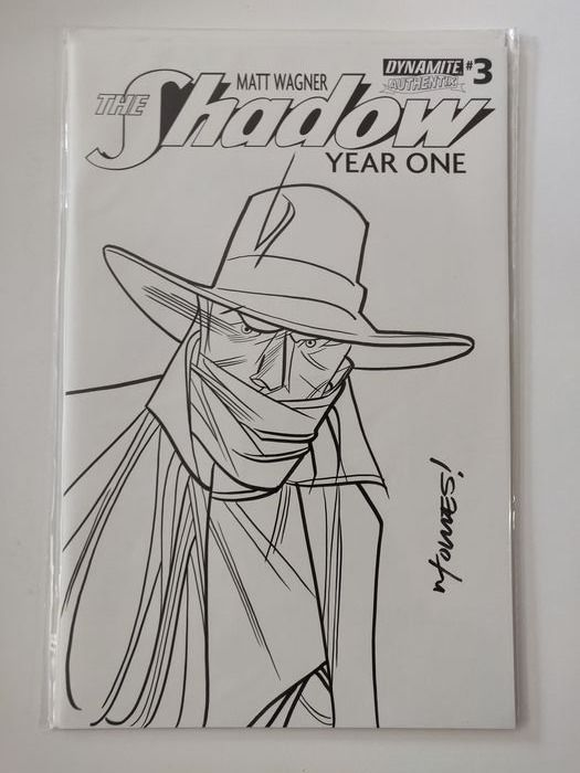 Shadow #3 - Shadow: Year One #3 Original Art Sketch Cover - Stapled - First edition