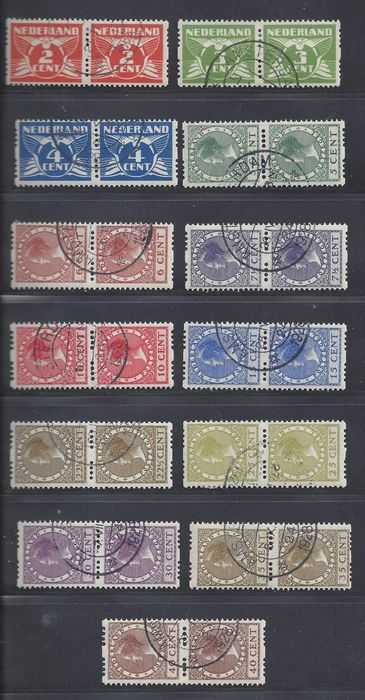 Netherlands 1926/1927 - Two-side syncopation in pairs - NVPH R19/R31