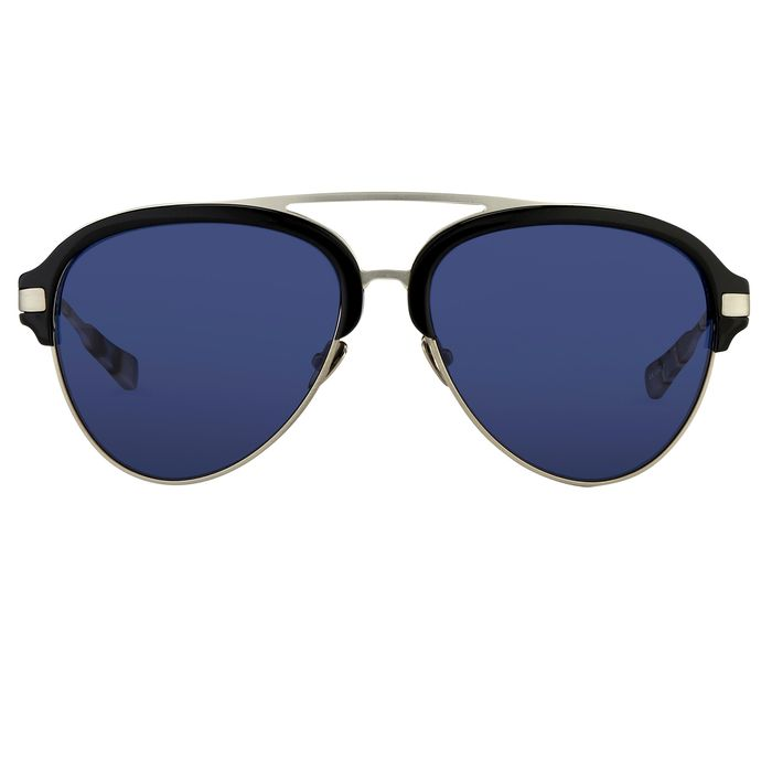 "Kris Van Assche - Aviator Black Burnt Silver and Blue Lenses - KVA74C1SUN ""NO RESERVE PRICE"" Sunglasses"