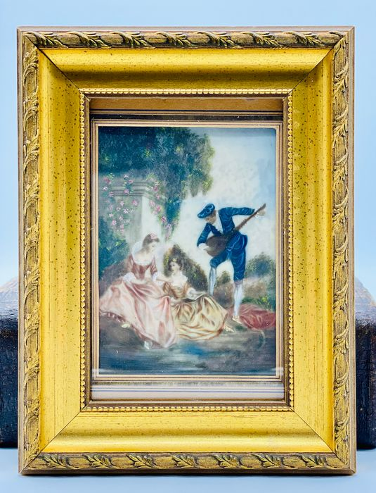 Neo-Baroque Miniature Special - Oil on Celluloid - Late 19th century