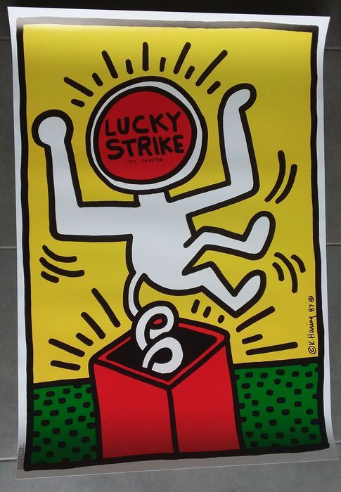 Keith Haring - Lucky Strike - Poster