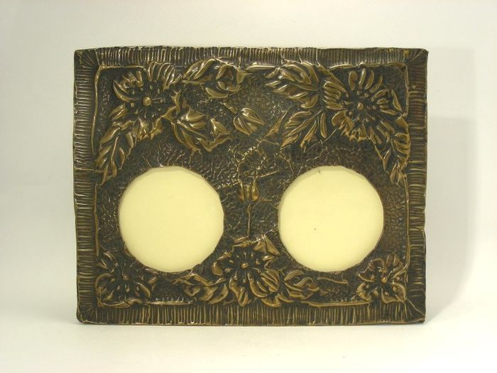 Art Nouveau Photo Frame with Embossed Flower Decoration