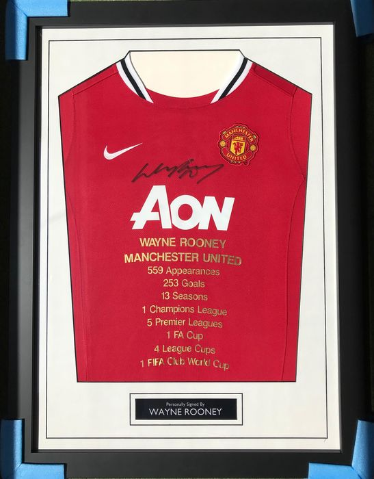Manchester United - Champions Football League - Wayne Rooney - Jersey