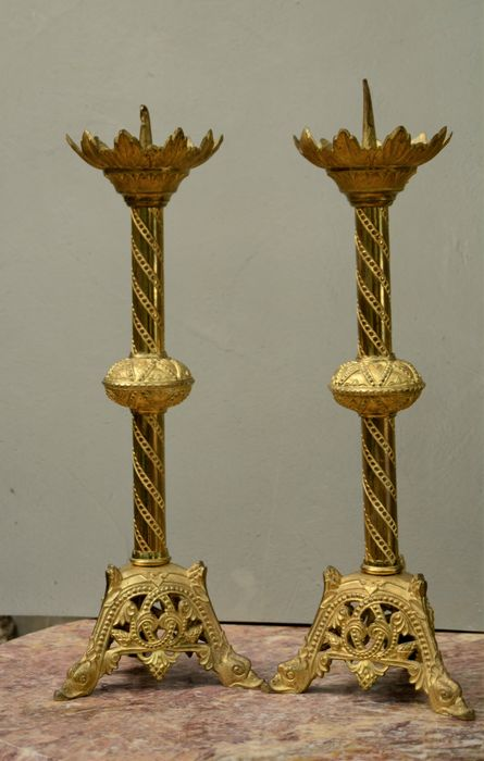 candle - Bronze (gilt) - Early 19th century