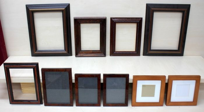 Wooden photo, painting frames (10) - Wood